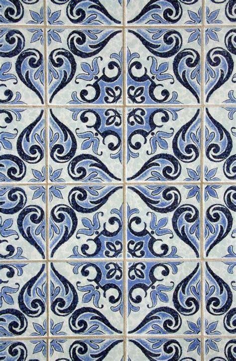 blue pattern tile wallpaper