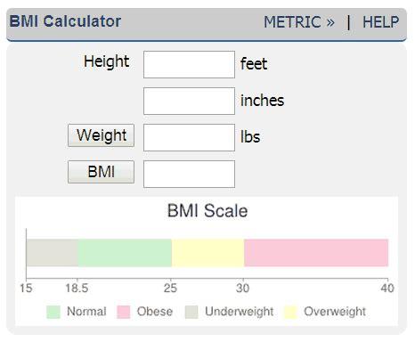 bmi calculator body mass index calculator