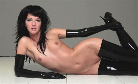 Wallpaper Brunette Full Frontal Nude Latex Boots Sexy