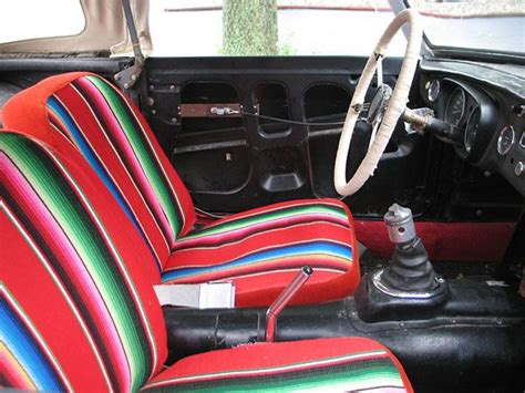 Custom Seat Upholstery, Made From A Mexican Blanket. Bernat Baby Yarn Blanket Patterns Make Quilt Receiving Blankets Rag Pattern For Crochet Ripple Breakfast Sausage In A Recipe Small Electric Argos Bulky Easy Granny Squares