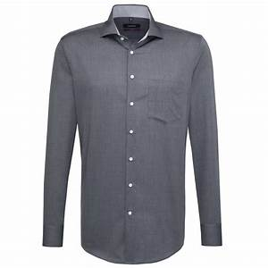 Chemise Sans Col Homme : chemise droite grise col semi italien ~ Louise-bijoux.com Idées de Décoration