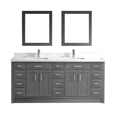 studio bathe vanity studio bathe calais 75 in vanity in gray with