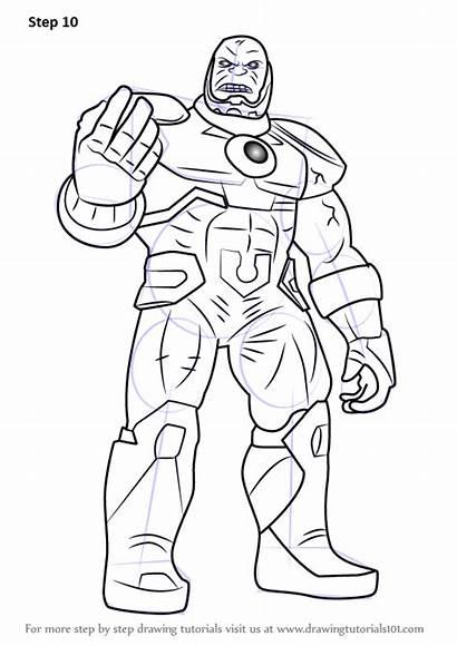 Draw Darkseid Drawing Dc Comics Tutorials Step