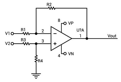 Inverting Amp Resistor Calculator Electrical