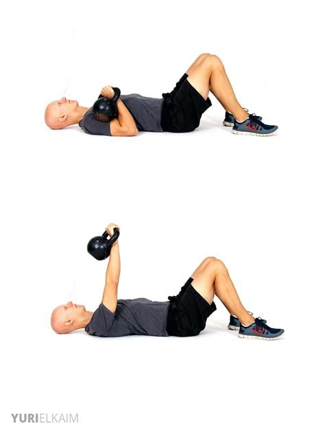 kettlebell chest exercises press weight loss workout kb printable muscles core worked triceps shoulders routine