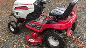 White Outdoor Lawn Mower