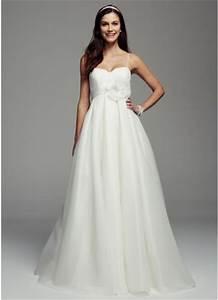 spaghetti strap empire waist ball gown david39s bridal With empire waist ball gown wedding dress