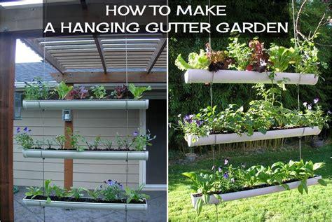 how to make a hanging l how to make a hanging gutter garden diy projects