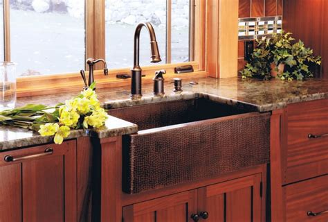 colored sinks kitchen when and how to add a copper farmhouse sink to a kitchen 2333