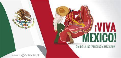 Diseño De Banner Viva México Día De La Independencia ...
