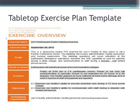 tabletop exercise template luxury exercise plan template model simple resume template format freearlifestyle info
