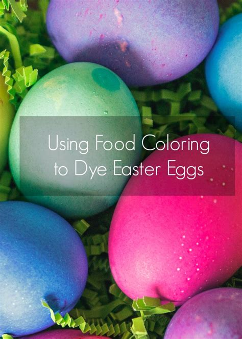 food coloring  dye easter eggs
