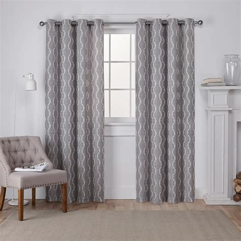 Grey Drapery Panels by Home Decorators Collection Semi Opaque Grey Faux Linen