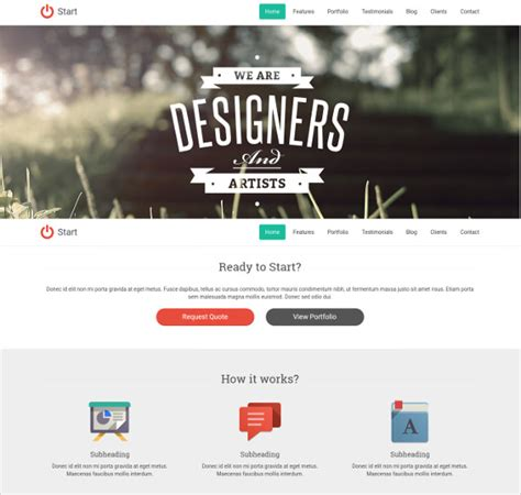 One Page Website Template 38 One Page Website Themes Templates Free Premium