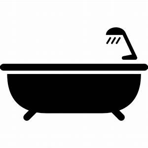 Bath tub with shower Icons | Free Download