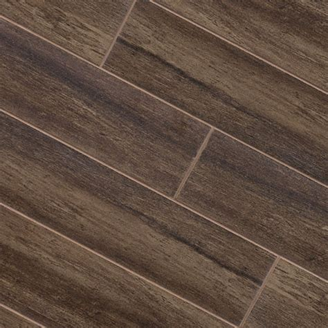 walnut wood plank porcelain modern wall and floor tile