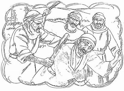 Parable Servant Hit Head Coloring Mark Pages
