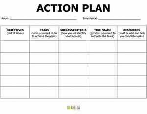 Nice template word action plan example with bold title and for What is an action plan template
