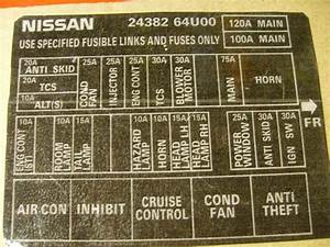Interior Fuse Panel Sticker  Diagram