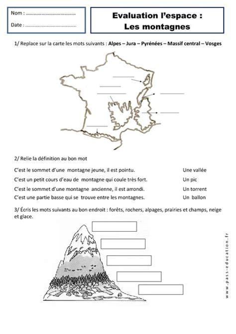 Carte Montagne Cycle 3 by Montagnes Paysages Ce1 Evaluation Espace Temps