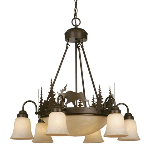 Timberland Lighting by Rustic Chandeliers Timberland Downlight Chandelier Black