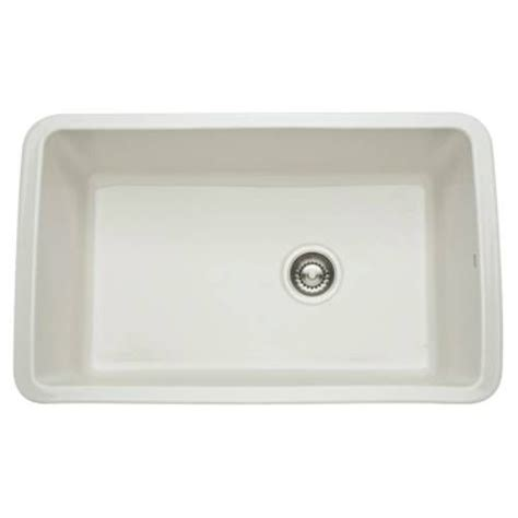 rohl fireclay sink 6307 rohl 6307 68 allia fireclay single bowl undermount kitchen