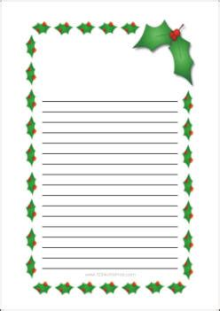 christmas writing borders writing paper free printable templates