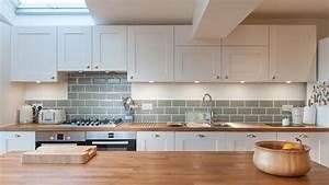 White Shaker Kitchen with Wooden Worktops - Burwash East