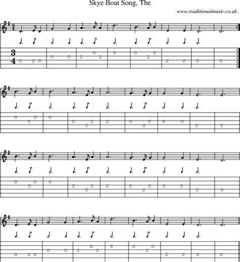 Skye Boat Song Viola Sheet Music by Scottish Tune Sheetmusic Midi Mp3 Guitar Chords Tabs