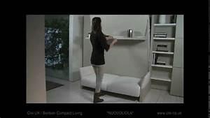 clei uk nuovoliola sofa wall bed unit youtube With wall bed with sofa india