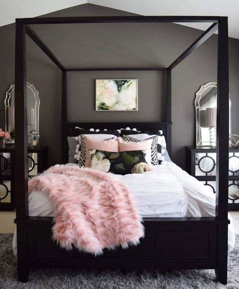 gray and pink bedroom ideas four poster bed with white pink black and grey for the 18815 | 3d3d02afbbaf351ee3c64853545f84a4