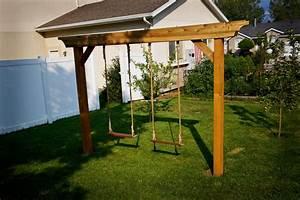 Pergola Swing Set Plan Image Pergola Swing Plans Images