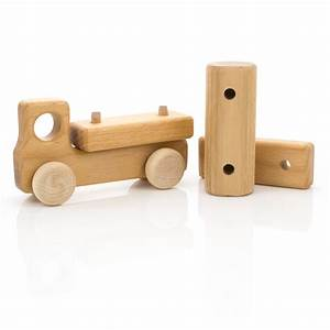 Leo & Bella Milton Asbhy Gift Boxed Wooden Toy Truck Natural