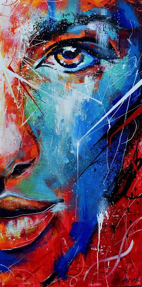 Fire And Ice Abstract Portrait Painting On Behance