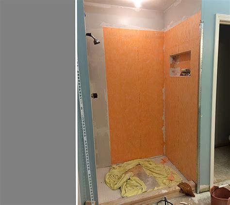 waterproofing tile shower walls waterproofing membrane shower how to waterproof 60 tub 7020