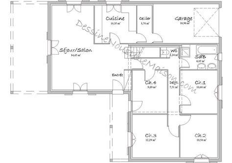 plan maison 5 chambres plans de maisons ou villas avec 5 chambres