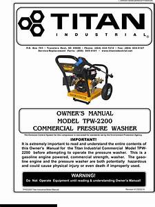 Titan Tpw 2200 Owners Manual 820309 Manualslib Makes It