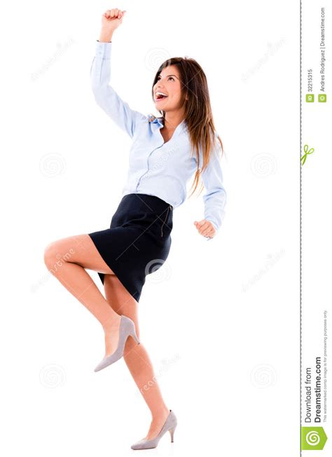 excited business woman royalty  stock photo image