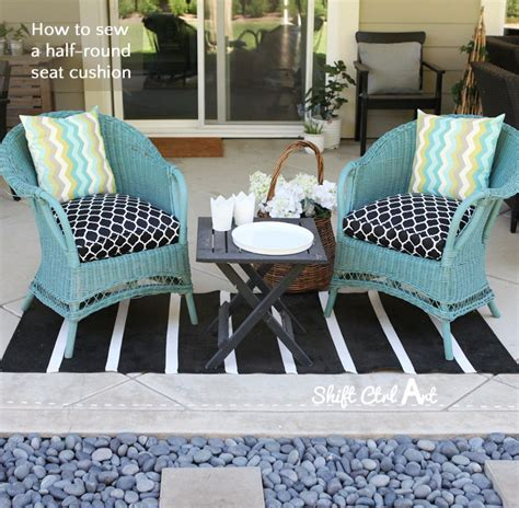Semi Circle Patio Furniture Cover by How To Sew A Half Seat Cushion Cover For My