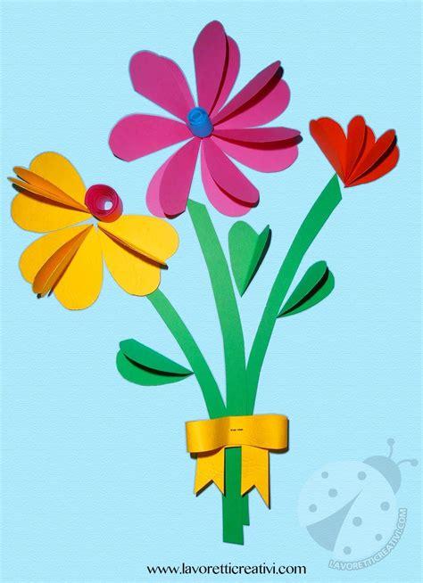 bouquet  fiori  cuori lavoretti creativi