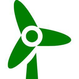 green wind turbine icon  green wind turbine icons