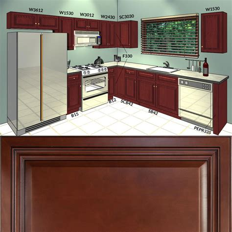 10x10 kitchen cabinets with island all solid wood kitchen cabinets cherryville 10x10 rta ebay