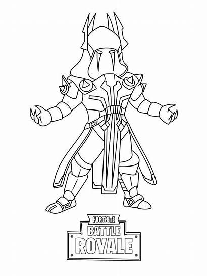 Fortnite Coloring Printable Pages Skin Fan King