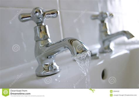 Hot & Cold Water Sink Taps Stock Photo. Image Of Closeup