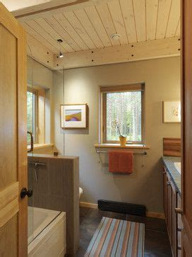 bathroom knotty pine the wall color in this guest bath is