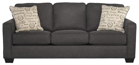 ashley furniture sleeper sofa signature design by alyssa charcoal 1660139 comtemporary track arm sofa sleeper