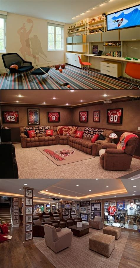 amazing living room decorations   sport theme