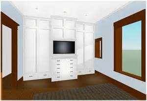 Master Bedroom with Built in Closets