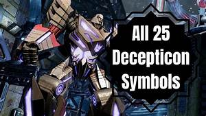 Transformers  Wfc All 25 Decepticon Symbol Locations
