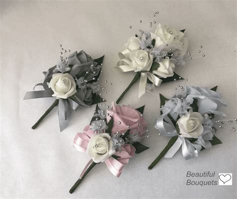 Artificial Buttonhole Ladies Pin on Wedding Corsage